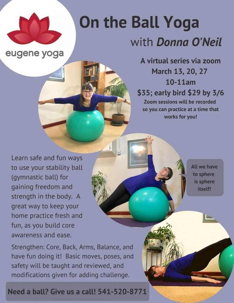 On the Ball Yoga with Donna O'Neil