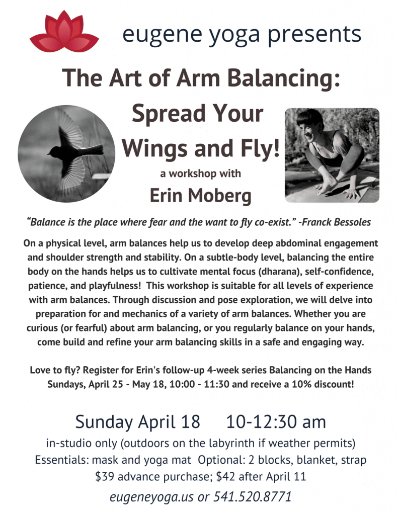 The Art of Arm Balancing: a workshop with Erin Moberg